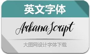 ArkanaScript(英文字体)