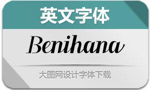 Benihana(英文字体)