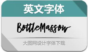 BottleMassow(英文字体)