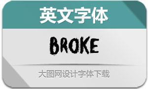 Broke(英文字体)