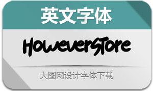 HoweverStore系列两款英文字体