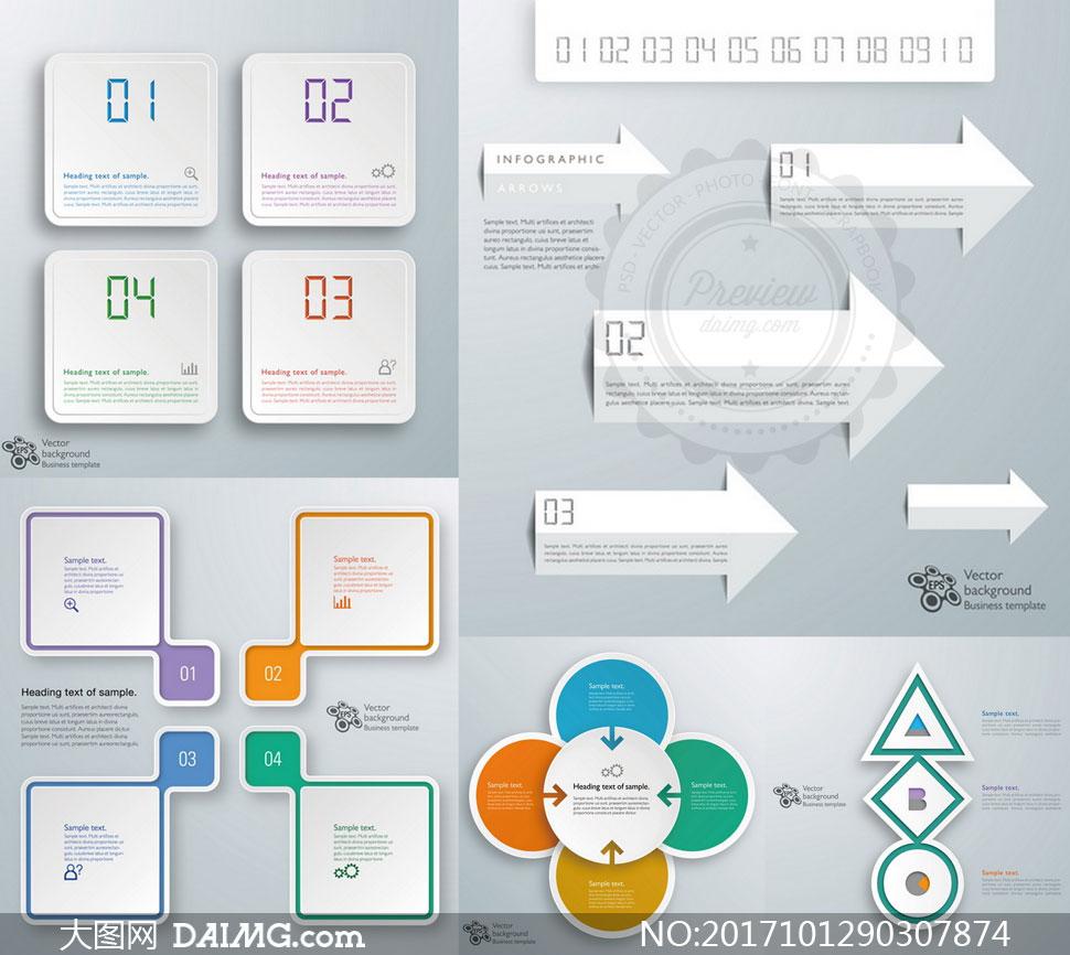 流程图表操作步骤操作流程立体质感几何抽象箭头圆角方形圆形图形图标