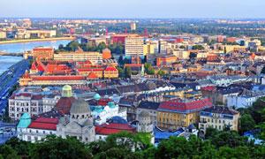 布达佩斯城市建筑鸟瞰摄影高清图片