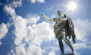 意大利罗马的奥古斯都雕像高清图片