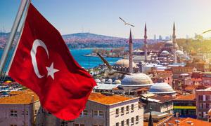 土耳其伊斯坦布尔鸟瞰摄影高清图片