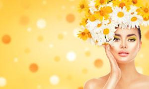 眼部彩妆美女模特人物摄影高清图片