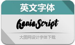 KaniaScript(英文字体)