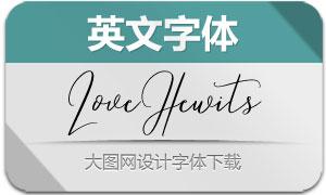 LoveHewits(英文字体)