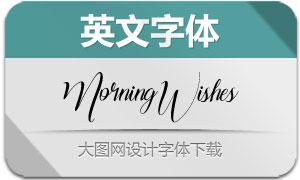 MorningWishes系列四款英文字体
