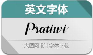 Pratiwi系列三款英文字体