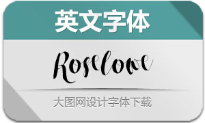 RoseloweTypeface(英文字体)
