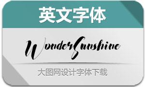 WonderSunshine(英文字体)