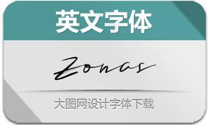 Zonas系列三款英文字体