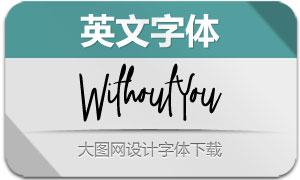 WithoutYou(英文字体)