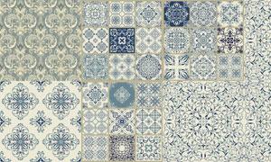 古典传统式样装饰底纹图案矢量素材