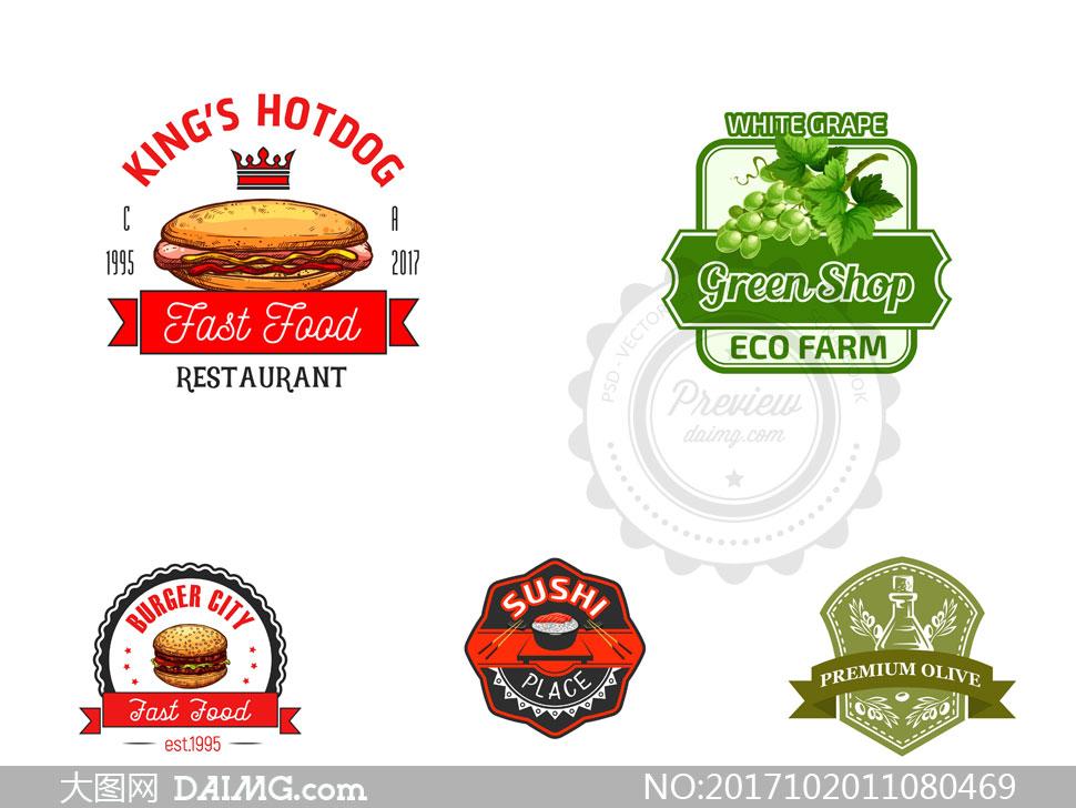 键 词: 矢量素材矢量图设计素材创意设计标志设计logo设计热狗汉堡包