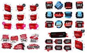黑色星期五促销打折标签等矢量素材