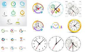 闹钟时间概念元素标志创意矢量素材