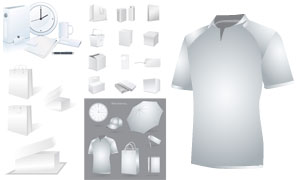 帽子手提袋等企業視覺元素矢量素材