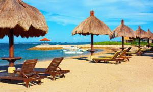 巴厘岛的海滩自然风光摄影高清图片