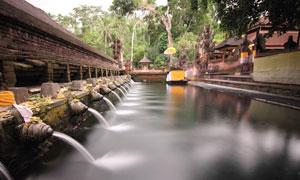 印尼巴厘岛圣泉寺风光摄影高清图片