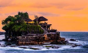 巴厘岛海神庙自然风光摄影高清图片
