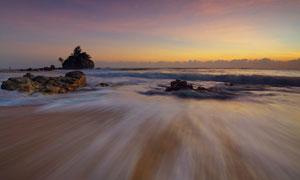 大海上的孤岛与岩石等摄影高清图片