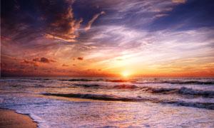 旖旎天空海上自然风光摄影高清图片
