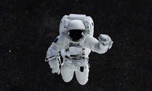 在宇宙空間中的宇航員人物高清圖片