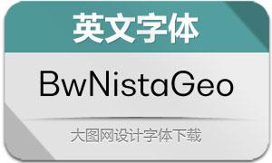 BwNistaGeometric系列英文字体