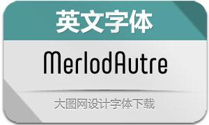 MerlodAutre系列7款英文字体