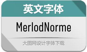 MerlodNorme系列7款英文字体