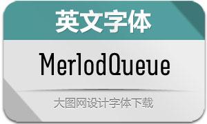 MerlodQueue系列7款英文字体