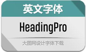 HeadingPro系列16款英文字体