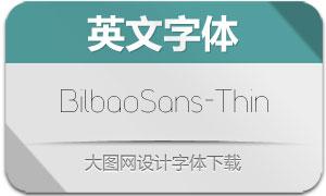 BilbaoSans-Thin(英文字体)