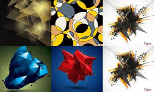 圆形与多边形元素抽象背景创意素材
