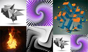 多边形与平面构成元素创意矢量素材