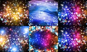梦幻璀璨星光元素主题背景矢量素材