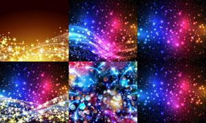 炫彩光效与平滑效果的线条矢量素材