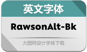 RawsonAlt-Black(英文字体)