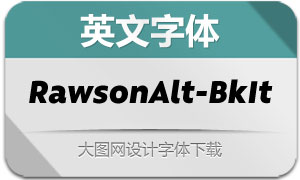 RawsonAlt-BlackIt(英文字体)