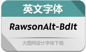 RawsonAlt-BoldItalic(英文字体)