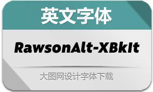 RawsonAlt-ExtraBlackIt(英文字体)