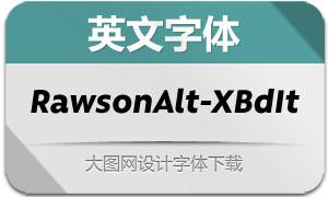 RawsonAlt-ExtraBoldIt(英文字体)