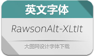 RawsonAlt-ExtraLightIt(英文字体)