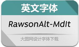 RawsonAlt-MediumItalic(英文字体)