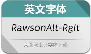 RawsonAlt-RegularItalic(英文字体)