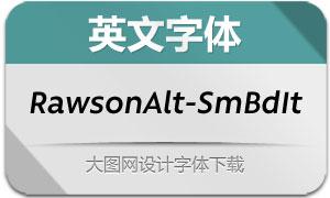 RawsonAlt-SemiBoldIt(英文字体)