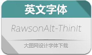 RawsonAlt-ThinItalic(英文字体)