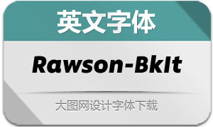 Rawson-BlackItalic(英文字体)